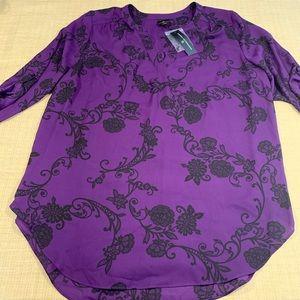 NWT sheer blouse by Worthington size 1XL